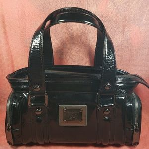 Authentic Burberry Black Leather Satchel Bag